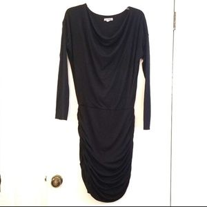 Athleta Solstice Long Sleeve Black Dress